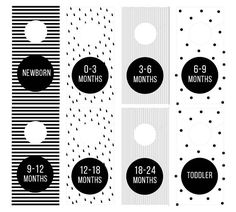 Black and White Closet Dividers for Nursery/Baby Room – Printable With this purchase you'll receive a PDF & INSTANT DOWNLOAD file of the closet dividers. This is an Instant Download, No physical file will be mailed to you.