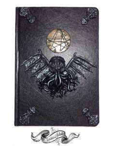 Cthulhu H.P Lovecraft Necronomicon Handmade Clay by MordiasSolum