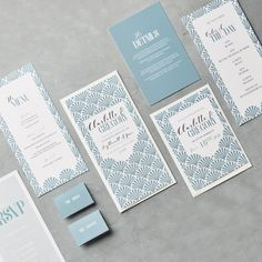 Wedding stationary by Betty Lou Design Art Deco's all the rage, and now it can be part of your special day. Feeling inspired? Head to my website to see more.