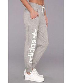 adidas Originals Originals Baggy Track Pant Medium Grey Heather/White - For more: