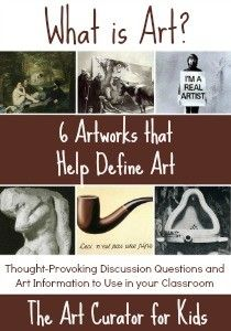 What is art? 6 Artworks that Help Define Art The Art Curator for Kids - Art About Art - What is art? - 6 Artworks that Help Define Art - Aesthetics Discussion Questions Art History Lessons, History Major, History Memes, Art Critique, Art Education Resources, Define Art, Art Criticism, Art Worksheets, Art Curriculum