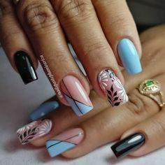 Mani Pedi, Nail Manicure, Pedicure, Cute Nails, Pretty Nails, Hair And Nails, My Nails, Classic Nails, Blue Nail Designs