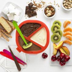Para los amantes de las fondues. Disfruta durante más de una hora del placer de una deliciosa fondue de chocolate con ChocoFondue, y sirve en pocos minutos recetas originales y variadas a la vez.