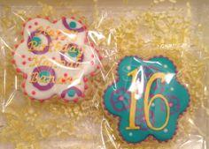 16th Birthday Cookiegram www.trufflepopshoppe.com