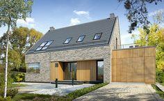 Atrakcyjny 2 - wizualizacja 1 - Nowoczesne projekty domów bez okapu