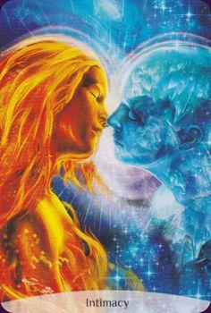 Chakra Reading Cards Intimacy 😇 Foto Fantasy, Dark Fantasy Art, Illustration Art Dessin, Art Amour, Twin Flame Love, Twin Flames, Flame Art, Spiritual Love, Romance Art