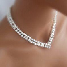 shixin® boda v forma vendimia collar de perlas blancas (1 unidad) 1794190 2016 – $9.99