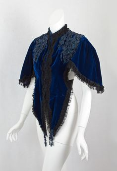 1885 Victorian Clothing at Vintage Textile: #1177 Beaded mantle