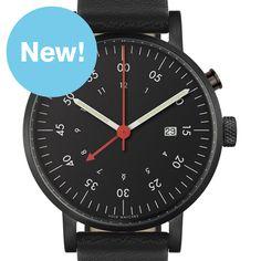VOID V03 Alarm (black/black) watch by VOID. Available at Dezeen Watch Store: www.dezeenwatchstore.com