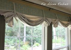 Far Above Rubies: Making window shades