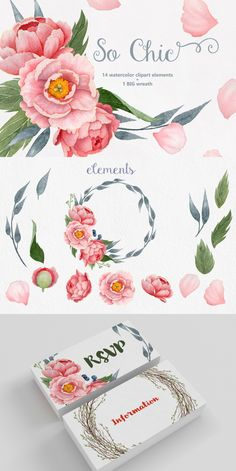 So Chic Water Color Elements- Love