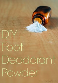 DIY Foot Powder Deod
