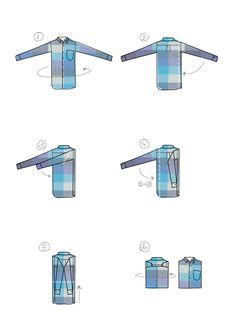 Cómo doblar una camisa #infografia