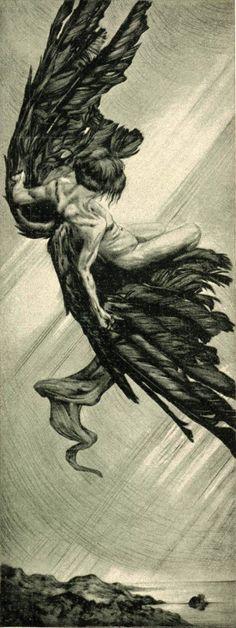 Icarus, Alois Kolb, Jugend magazine, 1901.