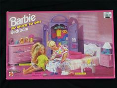 """Retired Brand NEW Sealed Barbie """"SO Much TO DO"""" Bedroom Playset 