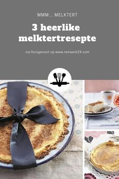 Drie gunsteling melktertresepte Melktert, Custard Recipes, South African Recipes, Biscuits, Cape, Cooking Recipes, Traditional, Food, Crack Crackers