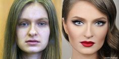 Before and after makeup SORCERY