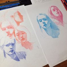 art inspo These one-colour pencil portraits would be really interesting to attempt for myself Art Sketches, Art Drawings, Horse Drawings, Pencil Drawings, Colored Pencil Portrait, Pencil Colour Art, Coloured Pencil Art, Drawn Art, Arte Sketchbook