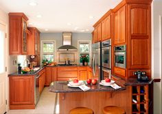 Featuring the backsplash tile behind the cook top.  www.remodelingdesigns.com