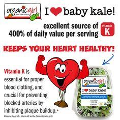 organicgirl i heart baby kale #organicgirl #babykale #iheartbabykale