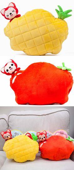 Tomato Pineapple Hand Warmer Throw Pillow