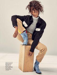 Liya Kebede | Calvin Klein Fashion Editorial | ELLE Brazil Cover