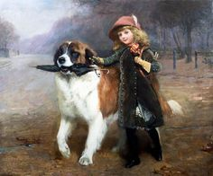 Charles Burton Barber Paintings-Off to School