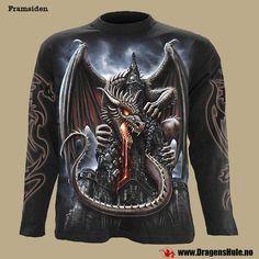 T-skjorte Langermet: Dragon Lava fra DragensHule. Om denne nettbutikken: http://nettbutikknytt.no/dragens-hule-no/