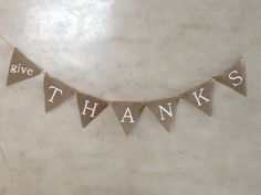 DIY Burlap Flag Banner   Delectable Darlings            Of course it would say something different .