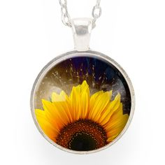 """The sunflower is a symbol of happiness, warmth, and longevity! Adorn yourself with the beautiful sunflower necklace and remember to just live and be happy. - Pendant size: 1"""" inch (25 mm) - Chain leng"""