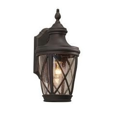 allen + roth Castine 14.41-in H Rubbed Bronze Outdoor Wall Light $69.98
