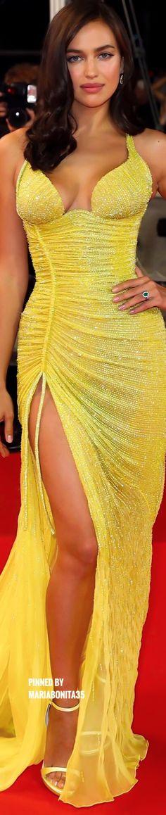 Irina Shayk wearing Versace at Cannes Film Festival