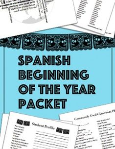 This beginning of the year packet has activities for the first week of school for Spanish teachers, Bilingual teachers, or ESL teachers with large Hispanic populations.1) Choose your Spanish name: 300+ names (girls/boys) for kids to choose from2) Student Information Sheet (in English, for beginner Spanish learners)3) Student Information Sheet (in Spanish, for intermediate-advanced)4) Student Profile (in English, for level 1)5) Student Profile (in Spanish, for levels 2, 3, 4, AP)6) Language…