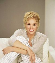 Sharon Stone Layered Pixie