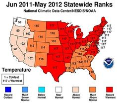U.S. completes warmest 12-month period again, record repeat. Is there a link to global warming?