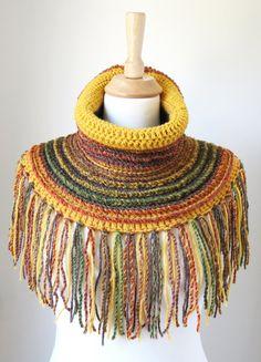 Nacken Sie wärmer Schal Wolle-Schal Boho von MinnaMatildaDesigns