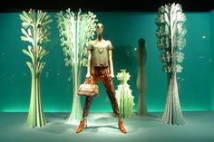 Urban nature at Printemps visual merchandising