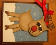 Reindeer using Stampin Up owl punch
