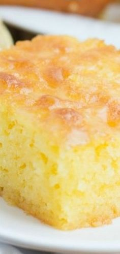 Lemon Jello Cake - Oh Sweet Basil