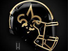 New Helmet, Helmet Logo, Cool Football Helmets, Nfl Football, American Football, 32 Nfl Teams, Falcon Logo, New Orleans Saints Football