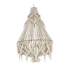 Aidoista puuhelmistä valmistettu Boho kattokruunu Valaisin sopii olo- sekä makuuhuoneeseen antamaan tunnelmaa ja luomaan sisustukseen näyttävää Boho-henkeä