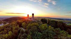 Zamek Królewski w Chęcinach o zachodzie słońca