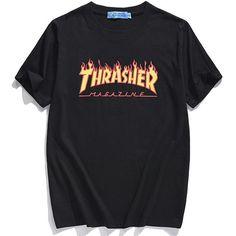 Sir Crane Summer Fashion Thrasher T Shirts Women and Men Harajuku Printed Short Sleeve T-Shirt 4 Colors Lovers' Tees Camisetas