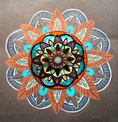 Mandala radial balance recycle CD 7th grade Wooley