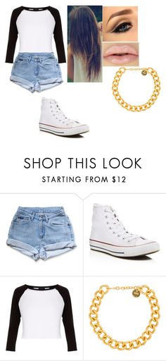 """""""i keep a smile on my face 😊😁"""" by logic301 ❤ liked on Polyvore featuring Converse, New Look and Alexander McQueen"""