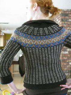Ravelry: Mosaic Yoke Jacket pattern - Veronik Avery IMG_0111 by portlandsassy, via Flickr