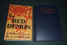 1933 1st in Dust Jacket of The Red Demon by A.J. Wright  Vintage Science Fiction