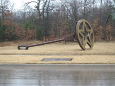 Giant Branding Iron - Grapevine, TX--on the road going into the Gaylord Texan hotel