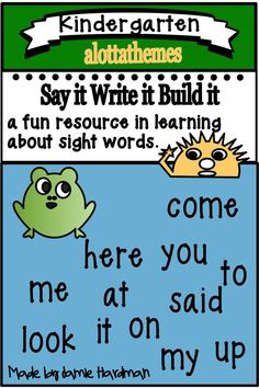 Practice sight words with your students with these fun worksheets! Included in these low prep printables are reading, printing, and sentence building worksheets that are great for morning work and take home booklets. Alphabet Activities, Language Activities, Sentence Building, Good Readers, Spring Theme, Learning Through Play, Math Skills, Printable Worksheets, Sight Words