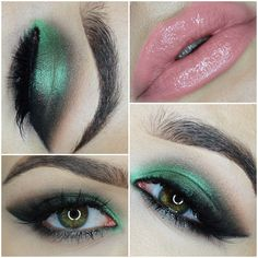 Emerald eye with nude lip